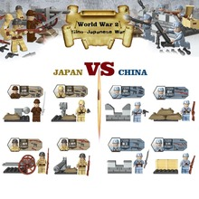 Buy WW2 Sino-Japanese War Building Block Toy Chinese VS Japanese Army Mini Military figure Wepaons Compatible Lego DLP9021 for $6.99 in AliExpress store