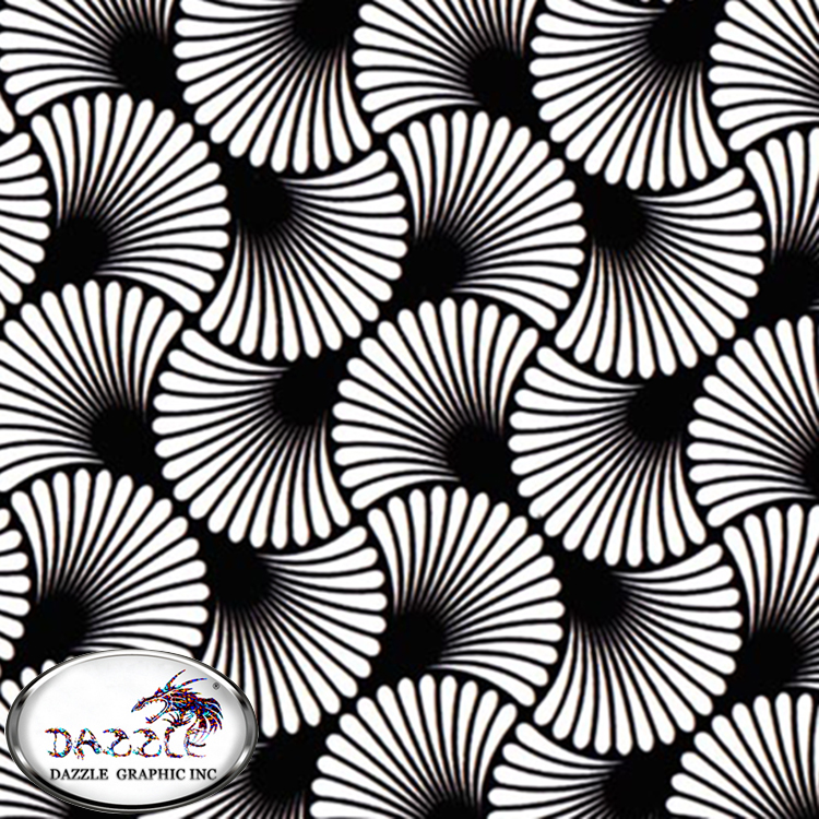 Free Shipping 0.5M*2M High Quality Hydro Dipping Films No.DGDC272 Sector Design Pattern Hydrographics Water Transfer Film(China (Mainland))