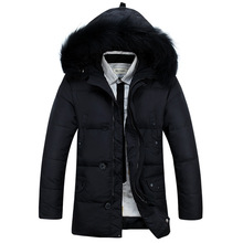 New style men winter coat cotton solid color loose down parkas men fashion thick casual padded leisure keep warm long jacket men