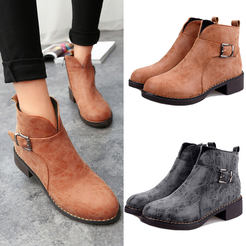 Simple Womens Cowboy Booties Low Heels Shoes Fancy Dress Medium Ankle Boots