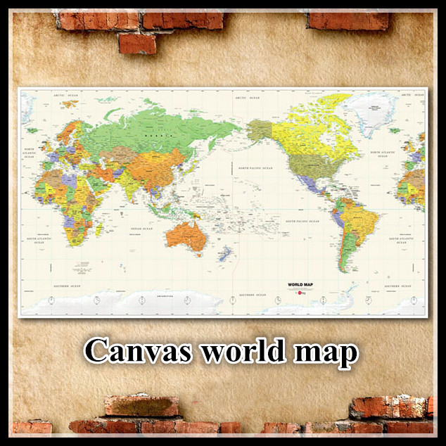 2015latesplatworldmapshotsaletourmapwithtimezoneglobalcanvaspicturewalldecorationjpg – Travel Maps For Sale