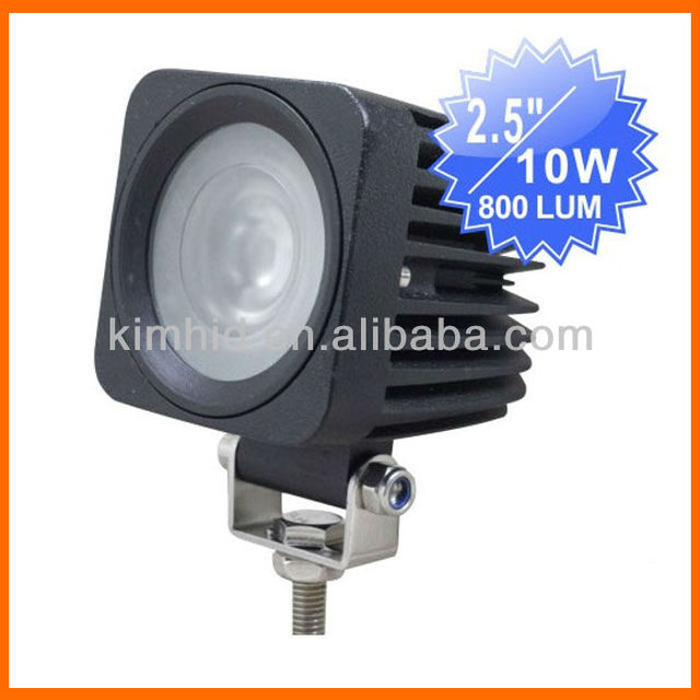 "HOT!!! Popular ! Free shipping!!! 2.5"" 10W 12V CREE Chip LED worklight 6000K 800 lumens/pcs"