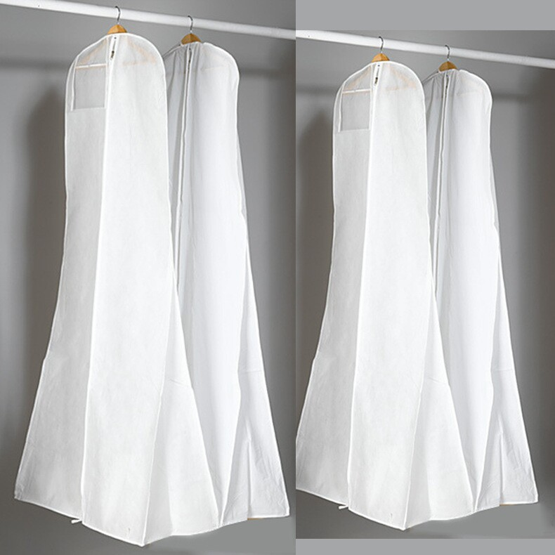 Free Shipping Cheap Wedding Dress Dust Cover Non Woven Bag For Packing Clothes Dust Cover For Clothes(China (Mainland))