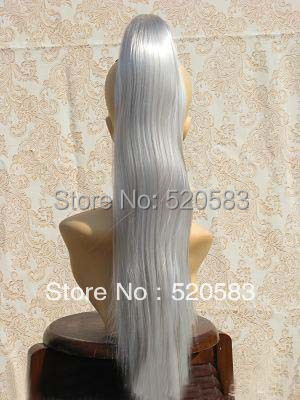 Grey Ponytail Extension 117