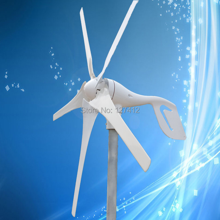 Household 200W/12V Wind Power Generator Max 350W Wind Turbine with 5Blades,CE Approved + 3 Years Warranty!(China (Mainland))