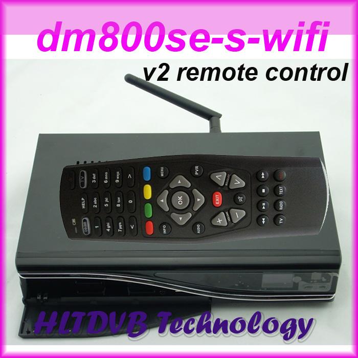 DM800se WIFI DM800hd SE With WIFI DM 800SE HD with v2 new remote control Digital Satellite Receiver fedex Free Shipping(China (Mainland))