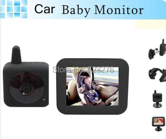 hot sale 2 4ghz wireless car video baby monitor 3 5 lcd color for car and home use ir night. Black Bedroom Furniture Sets. Home Design Ideas
