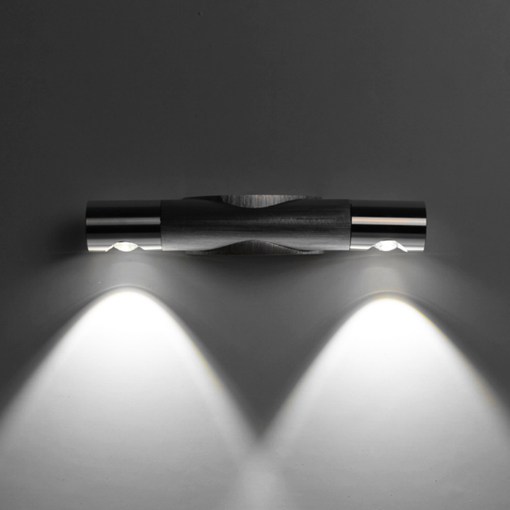 Wandstrahler Led Up Down : DayWarm White Silver case 6W LED Up Down Lamp Hall Sconce Mirror Spot