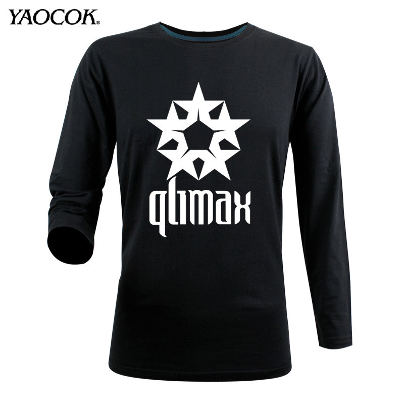 Qlimax rock and roll band t shirt men casual pure cotton for Custom printed dress shirts