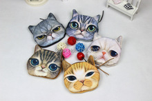Cute Cat Shape Plush Coin Purse Mobile Phone Bag Mini Portable Wallet(China (Mainland))