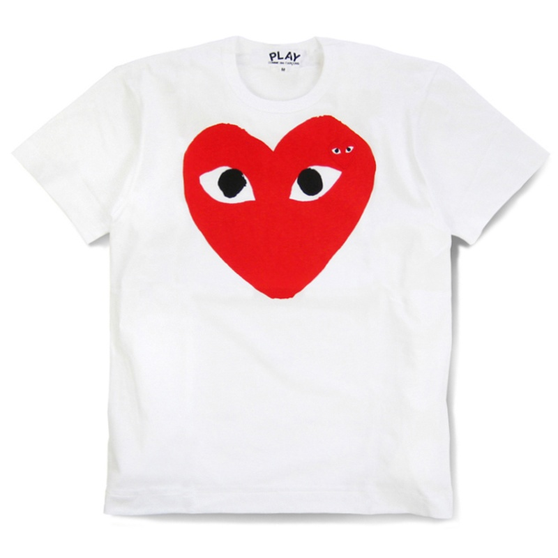 Love Play COMME Des GARCONS CDG PLAY Classic Red Heart Pattern Style Short Sleeve Tee T Shirts 2 Color 100% cotton Size:S- XLОдежда и ак�е��уары<br><br><br>Aliexpress