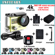 Hot Sale Action Camera H8R WIFI VR Video Record 16MP 30FPS 1080P HD Camcorder Waterproof Sports DV with 2.4G Remote Action cam