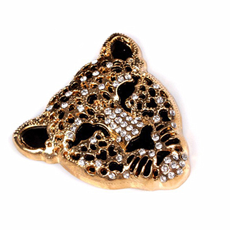 1 Pcs Leopard Crystal Diamond Mobile Phone Stickers DIY Cell Phone Styling Decoration Sticker Phone Decal Tools(China (Mainland))