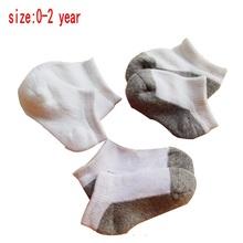 3 pairs/lot  Newborn baby socks 100% cotton pure color for children socks 0-2 year baby boys/girls socks