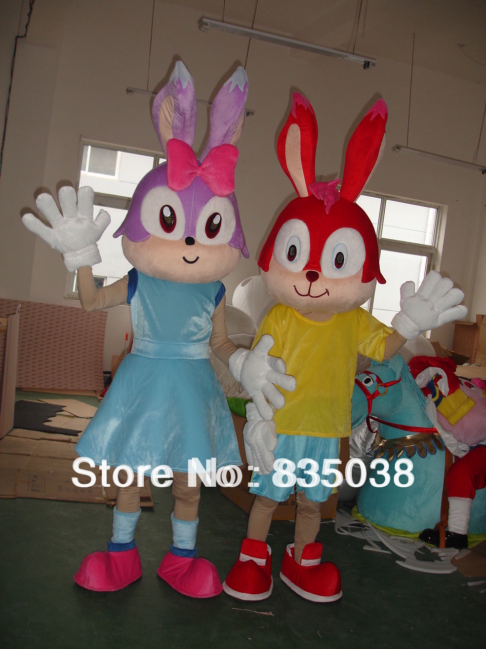 Cheap Bunny Mascot Costume Bunny Costumes Bunny Walking Act For Sale(China (Mainland))