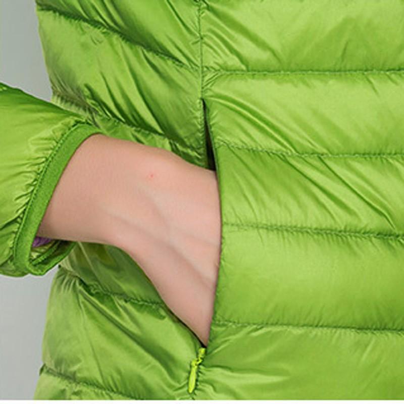 Скидки на IEASYSEXY 2016 Твердые 18 Цветов Abrigo Mujer зима в Шляпе 90% Белая Утка Вниз, Ultra Light Пуховик Женщин Winterjas дам