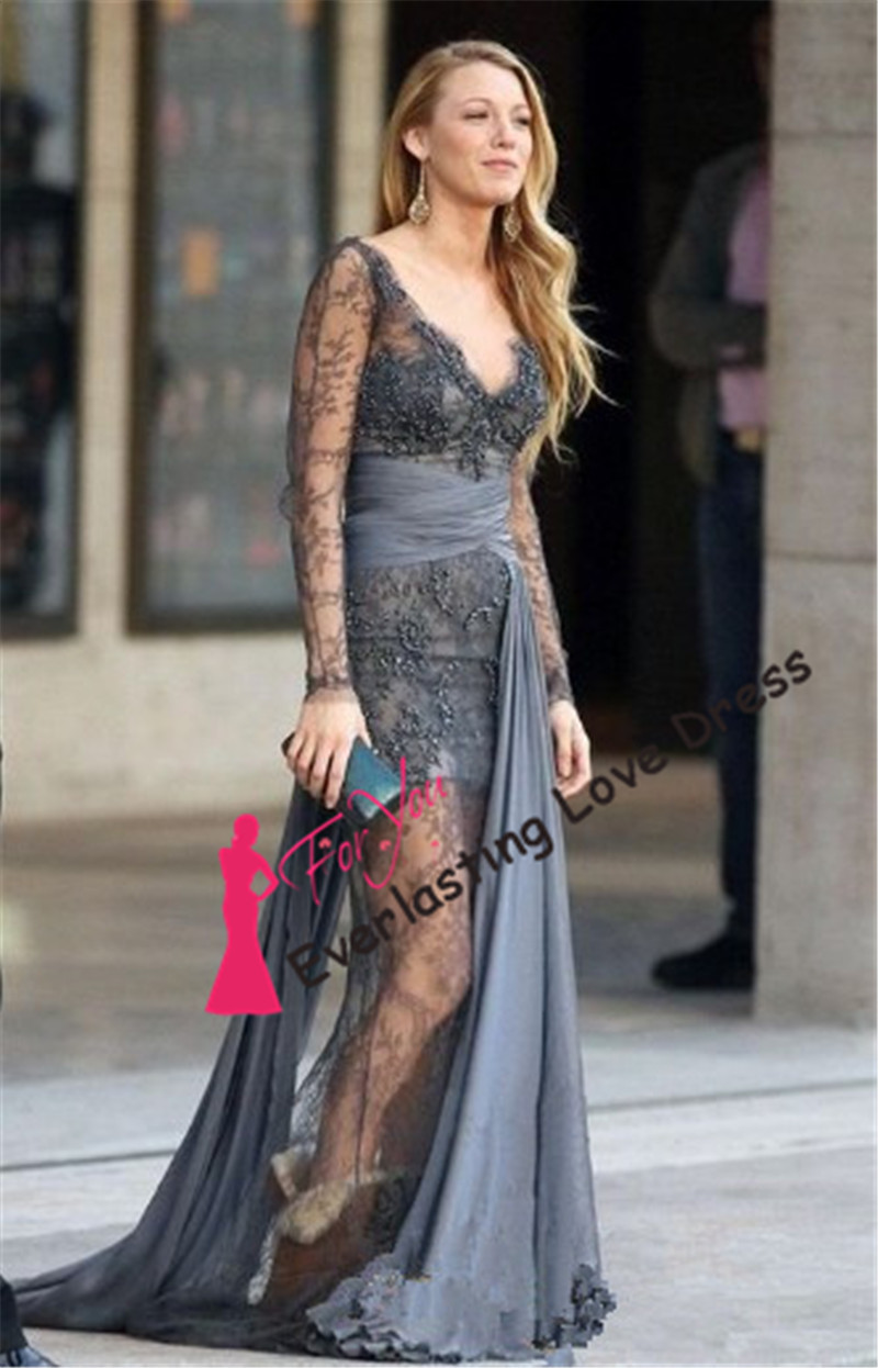 2014 sexy women haute couture dresses blake grey lace for To have and to haute dress