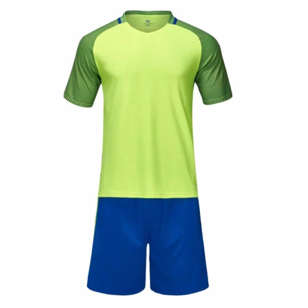 2016 boys mens football jerseys breathable soccer jerseys green M-3XL painless youth custom football jersey shirts sports wear(China (Mainland))