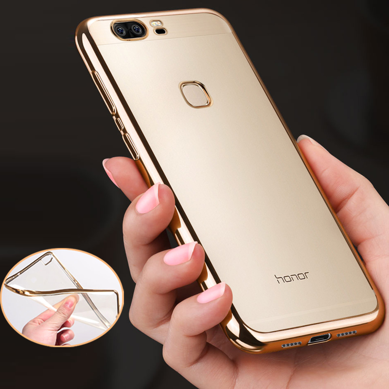 Phone Case for Huawei Honor 8 Thin Cover Case Plating Electroplating Transparent Soft TPU Mobile Phone Bag For Huawei Honor 8(China (Mainland))