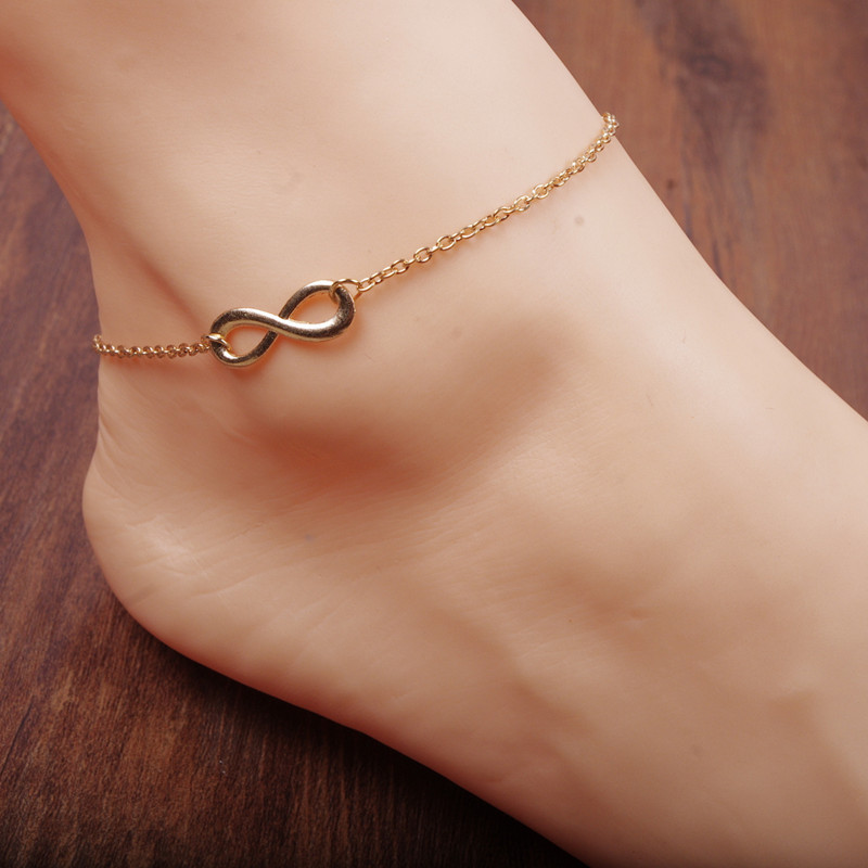 Fashion New Gold Anklets For Women Simple Figure Sexy Foot Chain Charm Anklets(China (Mainland))