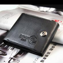 2015 New Leather Brand Men s Wallet Multifunctional Short Design Men Wallet Zipper Coin Purse Card