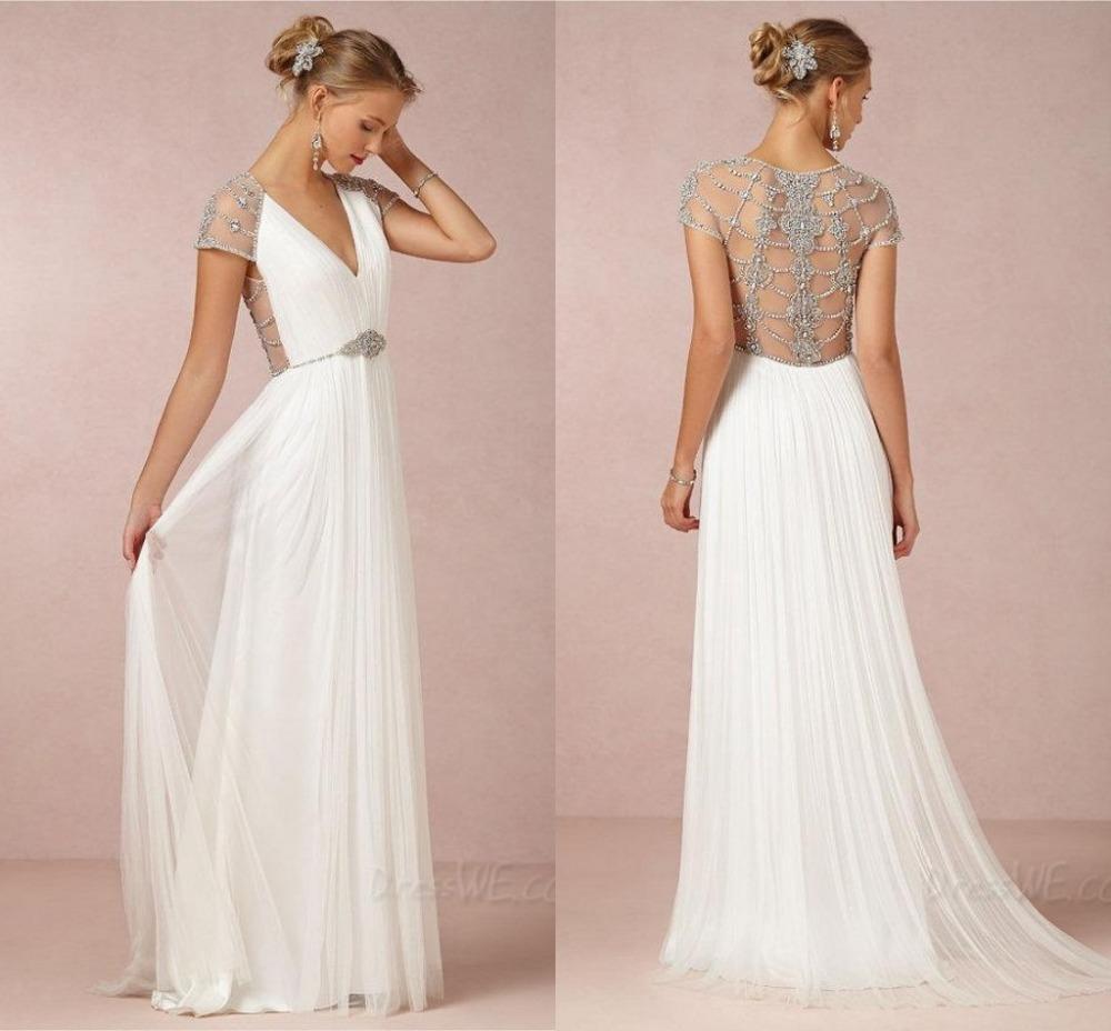 vestidos blancos largos vintage