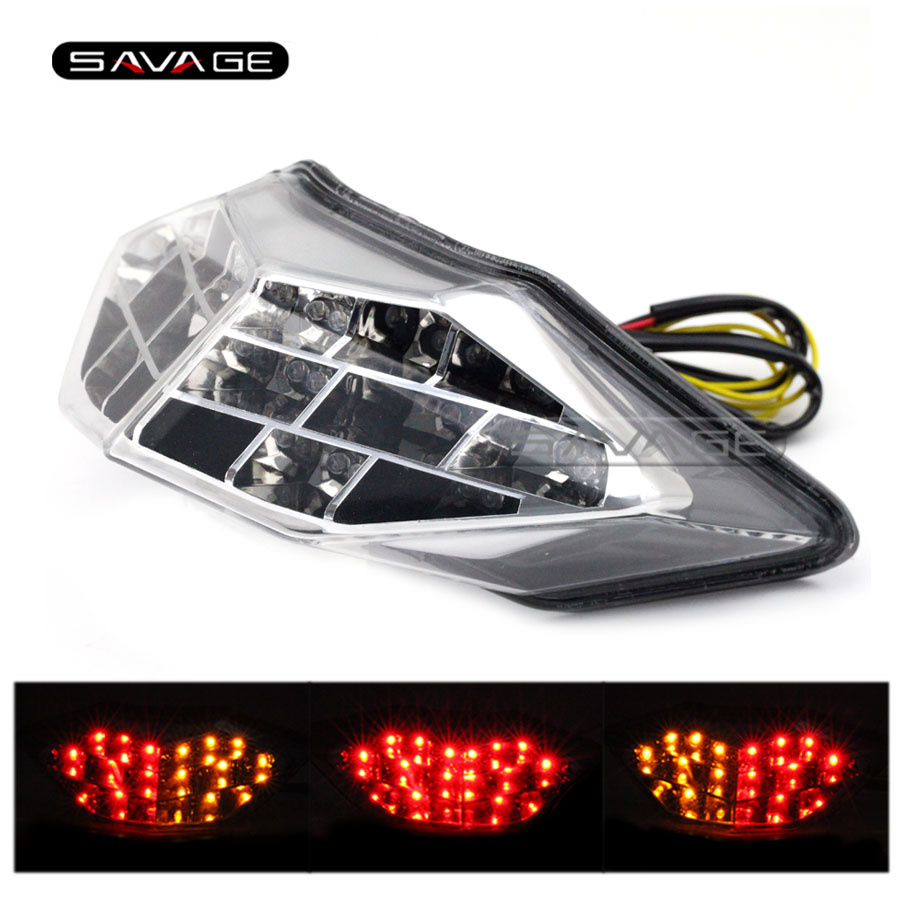 Фотография For KAWASAKI NINJA 250/300 Z250 2013-2016 14 15 Motorcycle Integrated LED Tail Light Brake Turn signal Blinker Lamp Clear