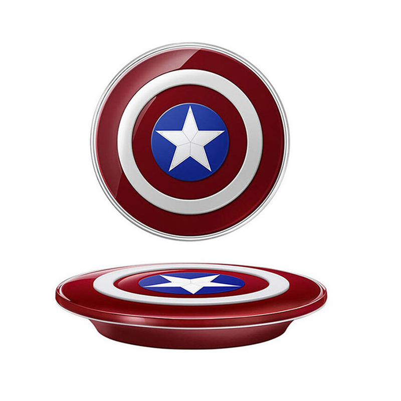Captain American cell phone Qi Wireless Charger For SAMSUNG Galaxy S6 G9200 S6 Edge G9250 cargador inalambrico chargeur sans fil