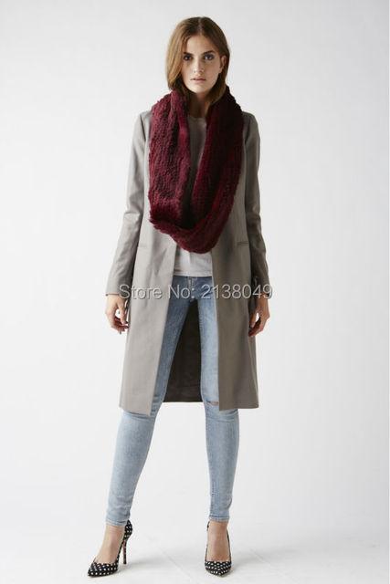 Fs008 150 * 20 см падения доставкой мода мягкий теплый кролика шарф натуральный мех шарфы