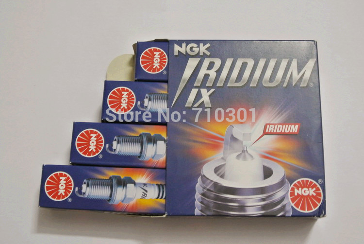 Super free shipping!! NGK IRIDIUM IX spark plug 3484 6637 BPR6EIX, MADE IN JAPAN. 4PCS/LOT, Suitable for TOYOTA corolla 2003(China (Mainland))