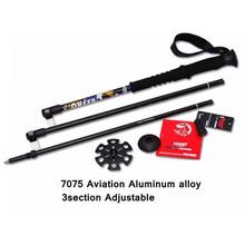 2pcs lot 1 pair 7075 Aluminum Hiking Stick Nordic Walking Stick Outdoor Telescopic Handle Climbing Equipment