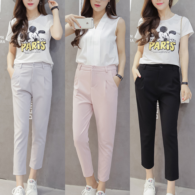Beautiful 0810 2016 Spring Summer Pants Women Skinny Harem Pants Loose Korean