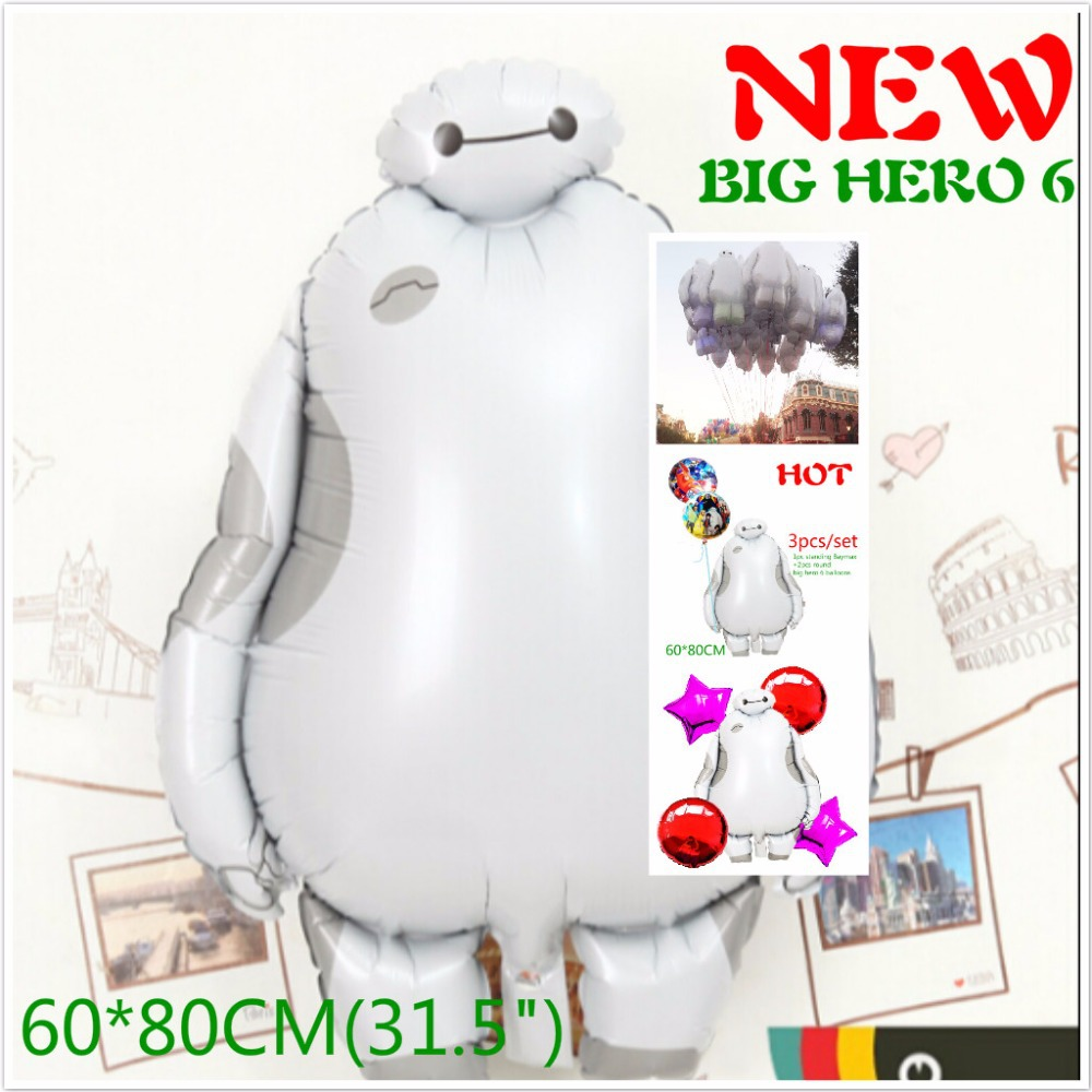 31 inch Big Hero 6 Baymax Foil Balloons 1 Helium Ballon Birthday Party Decoration Baloons Favourite globos toy Robot - cartoontopballoon28 store