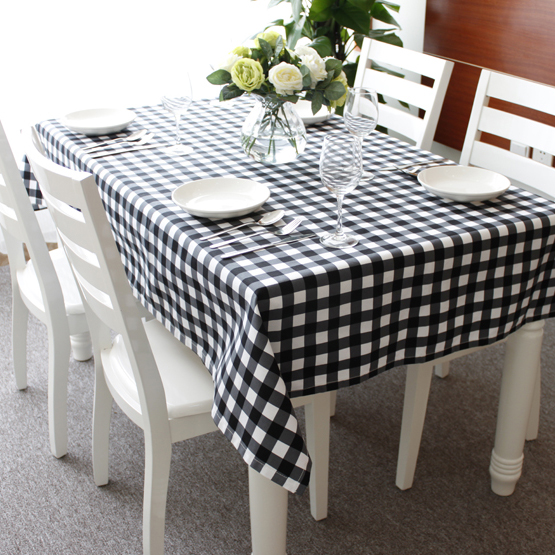 Plaid Table Cloth Plaid Gremial Brief Active Canvas Dining Table Cloth