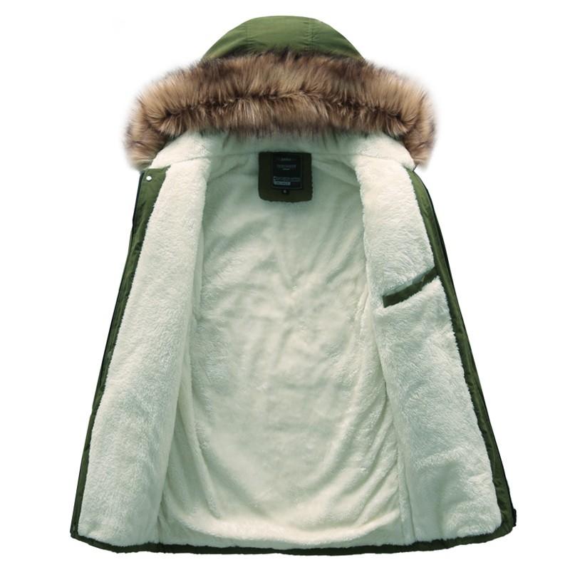 Скидки на Горячие продажи моды печатных мужчины зимняя куртка густой мех с капюшоном пальто верхней одежды M-4XL DYG134