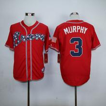 Wholesale Price 3 Dale Murphy 10 Chipper Jones 24 Deion Sanders 29 John Smoltz throwback Jerseys white red black blue gray(China (Mainland))
