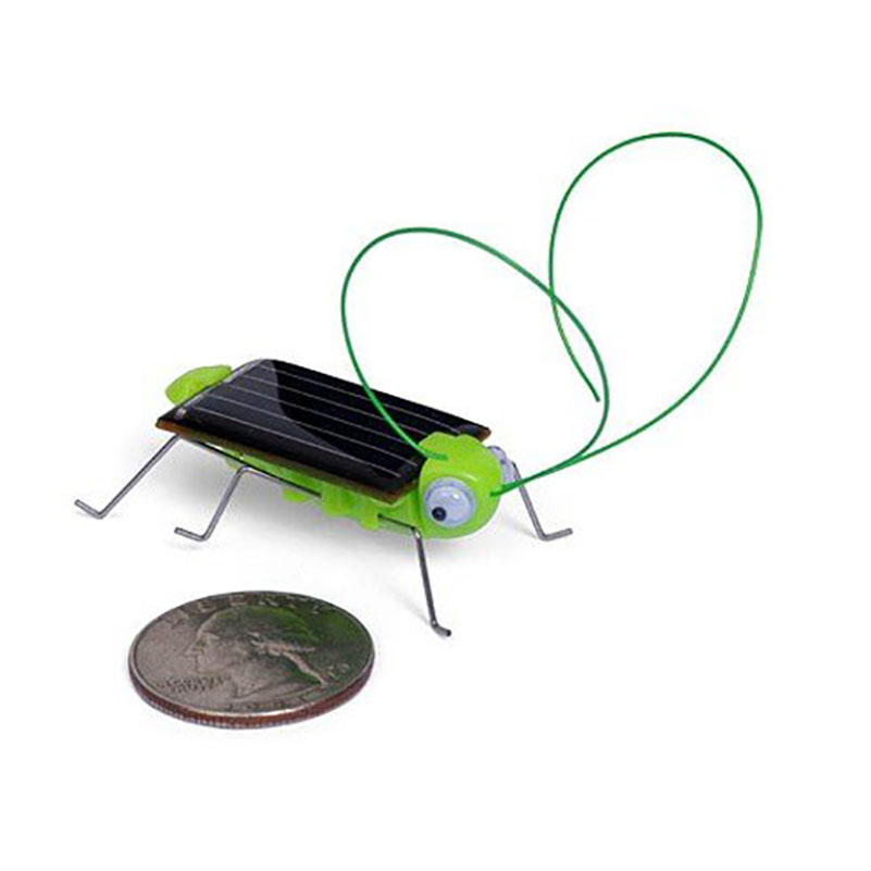 Brinquedo Solar Toy Solar Powered Toy Crazy Grasshopper Cricket Insect Bug Gadgets For Kids Green Juguetes Solares For Children(China (Mainland))
