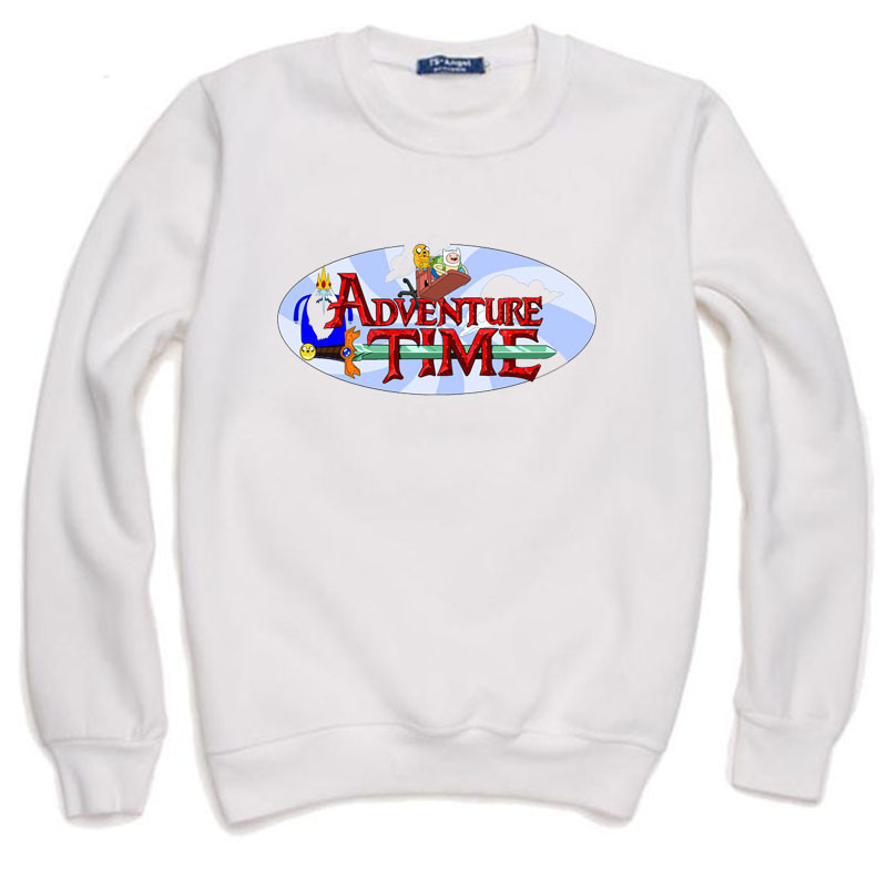 Adventure Time Men and women Simple cotton round neck long sleeved thick fleece Free Shipping(China (Mainland))