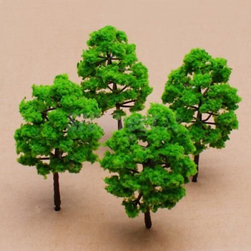 10pc New SCALE Model Trees Train Railway Building Park Street Scenery Layout(China (Mainland))