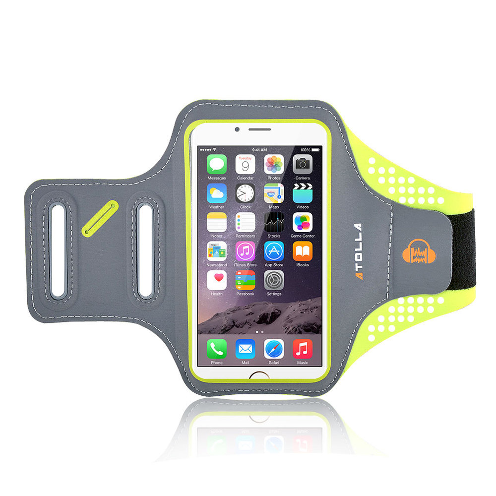 High Quality ATOLLA Brand Sports Armband for iPhone 6, Galaxy S6 /S6 Edge / S5,Arm band for workouts Running cycling (Green)(China (Mainland))