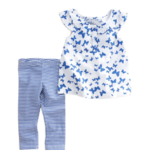 Summer 2015 clothes suits Baby Girls Small broken flower with short sleeves pants pants Cute Kids