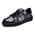 new design 2016 spring autumn men s printing casual shoes men breathable glossy sequin Shoes Fashion