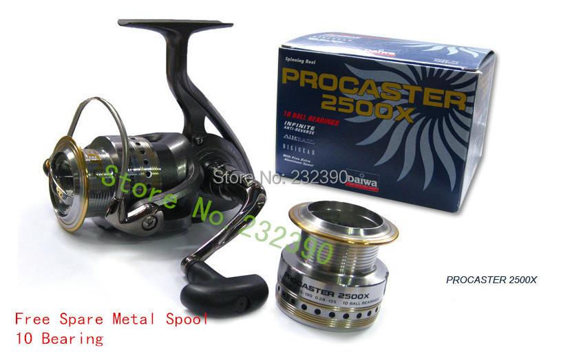 Daiwa Procaster 2500X 10 Bearing Spinning 2 Spool Saltwater Rock Lure Fishing Reel Ratio 5.3:1 molinete de pesca spinnrolle(China (Mainland))