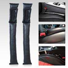 Black Universal Car Seat Gap Pad Space soft Leather Filler Padding Leak Proof Plate Slot Plug Mercedes Chevrolet Nissan - Hutongstore auto parts store