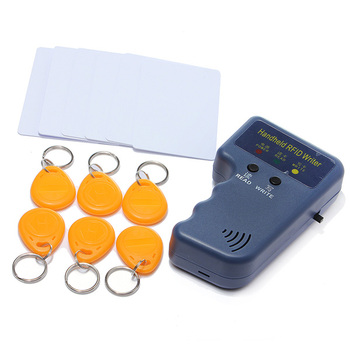 RFID Handheld 125KHz EM4100 ID Card Copier Writer Duplicator with 6 Writable Tags + 6 Writable Cards Free Shipping