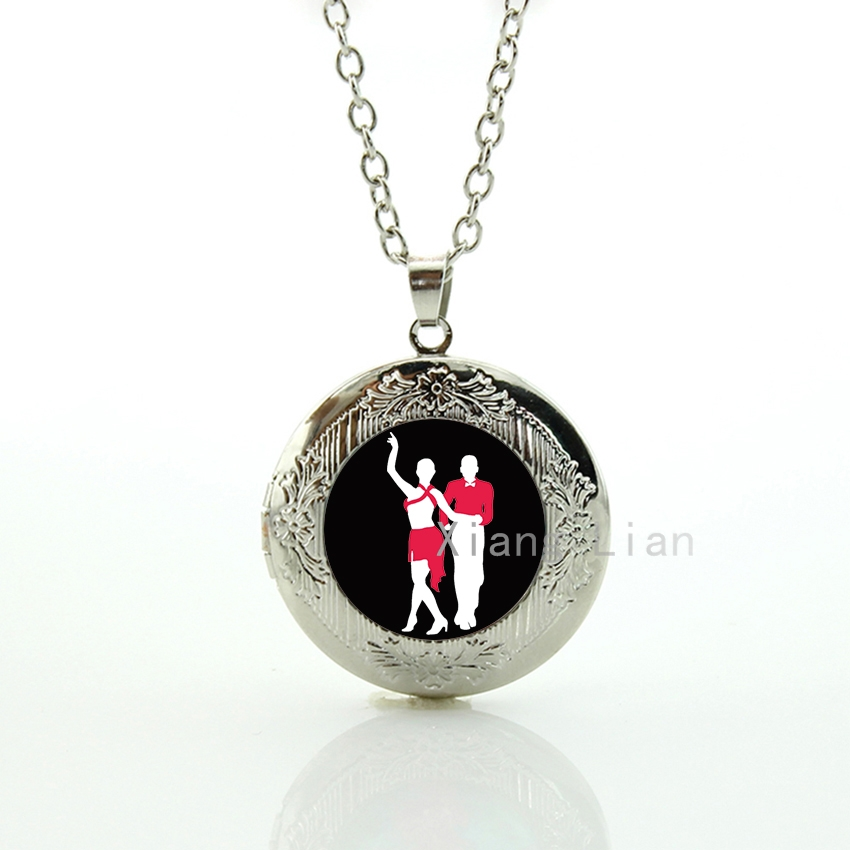 Classy charm dancers jewelry lively colors beautiful ballroom dancing art Latin dance rumba samba cha cha locket necklace DC042(China (Mainland))