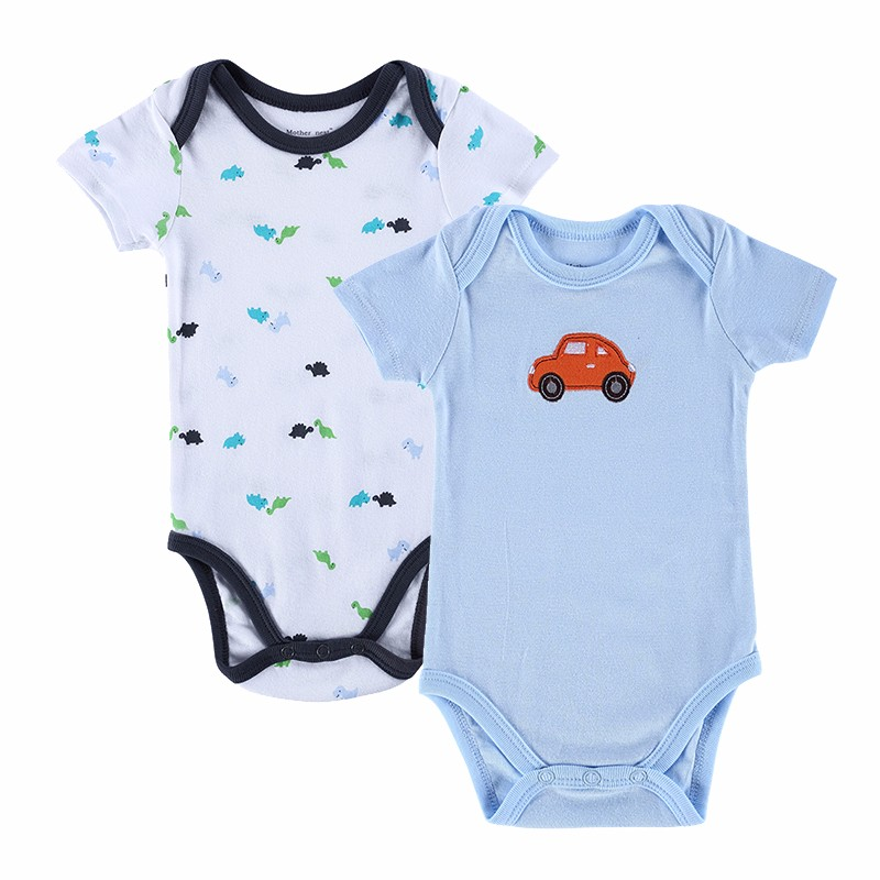 2 PCSLOT 2016 Fashion High Quality Baby Romper Boy & Girl Cartoon Animal 0-12M Jumpsuit Ropa Bebe Body Suit Baby Clothes Romper (10)
