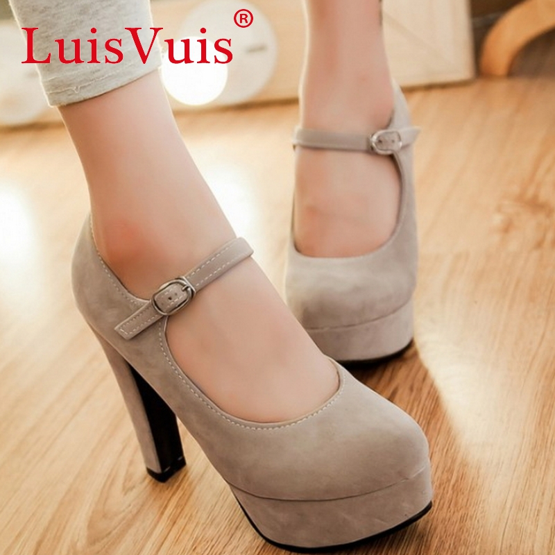 women platform high heel shoes sexy quality spring fashion heeled footwear brand pumps heels shoes size 32-43 P16334