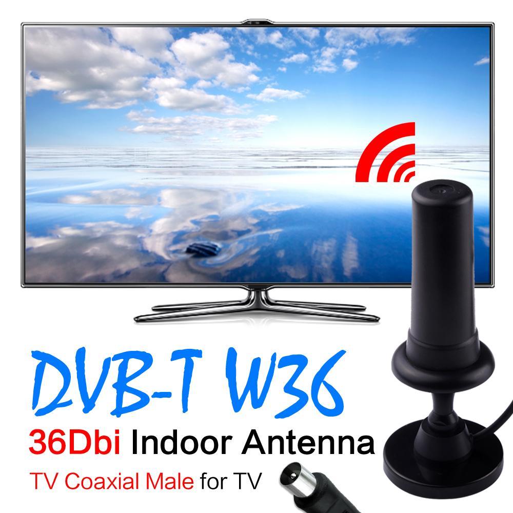 36dBi Digital DVB-T DVB T HDTV Freeview Aerial Booster Antenna For HDTV TV Black EL5935(China (Mainland))