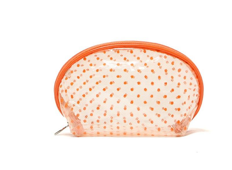2016 New Hot Sale Transparent Three Layers waterproof PVC Spot Shell Type Bag Women Cosmetics Bags HBG32 (13)